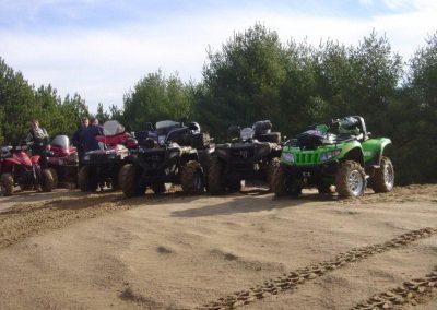 Ride break in sand pit